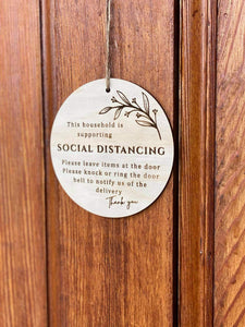 Social Distancing Sign - Silver Belle Design