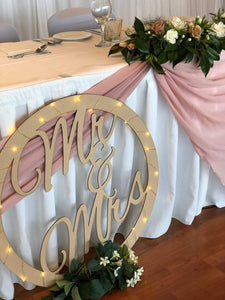 Bridal Sign - Hoop or Heart Style - Silver Belle Design