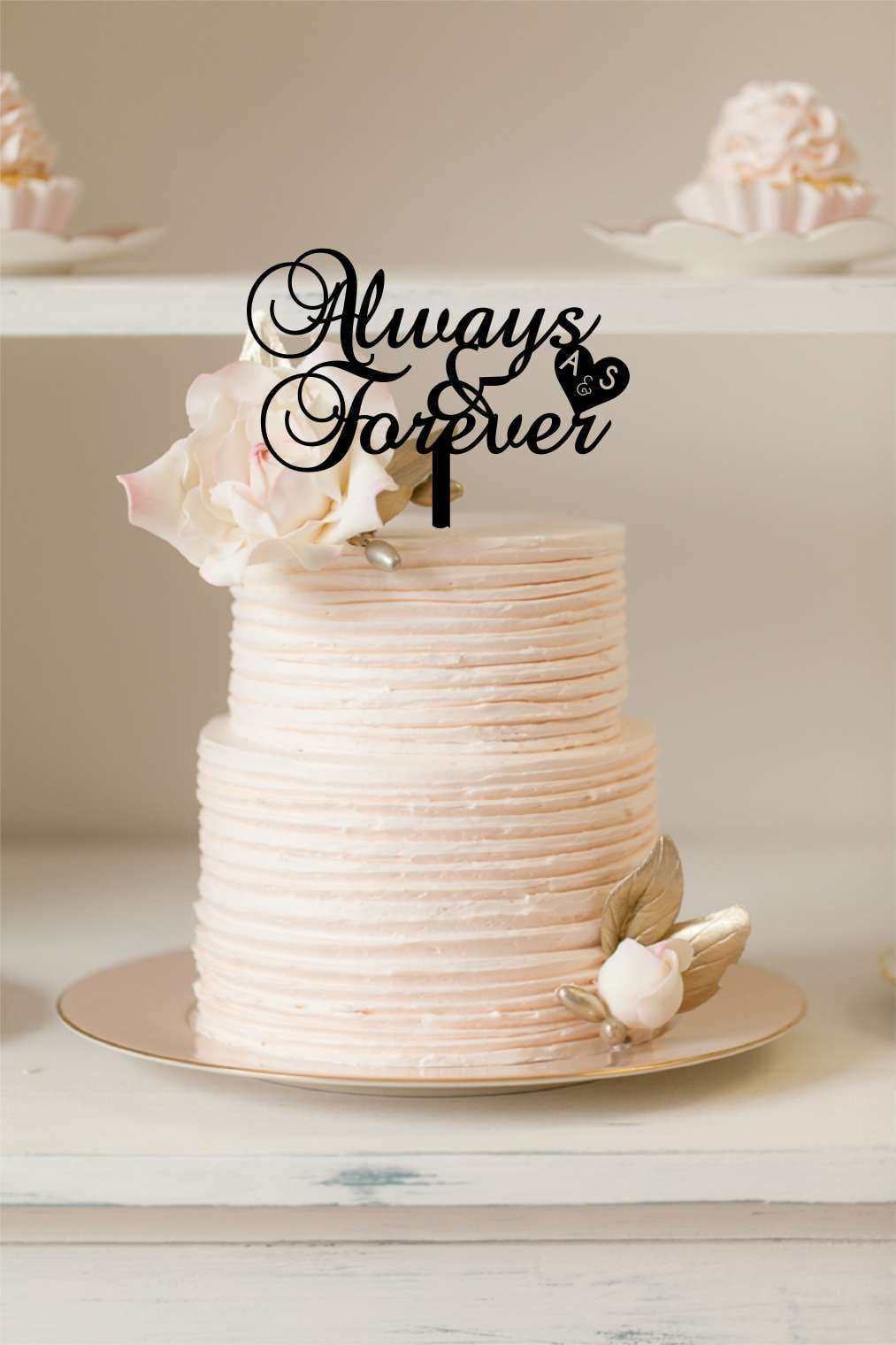 Cake Topper - Always & Forever - Silver Belle Design