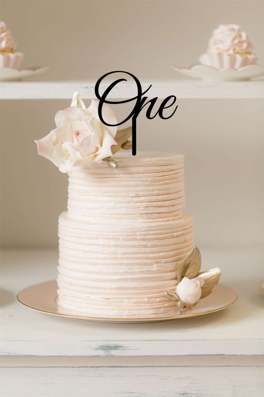 Cake Topper - One - Silver Belle Design
