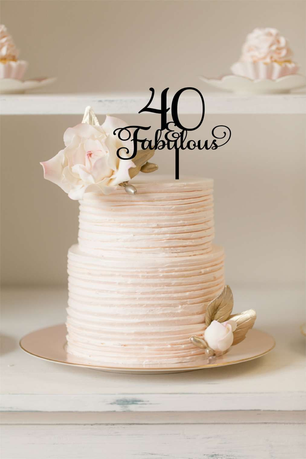 Cake Topper - Age & Fabulous - Silver Belle Design