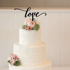 Cake Topper - Love - Silver Belle Design
