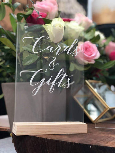 Acrylic Table Signage - Silver Belle Design