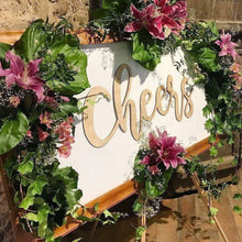 Single Laser Cut Out Sign - Names Weddings Events Homewares