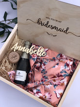 Timber Bridesmaid Proposal Box - Silver Belle Design