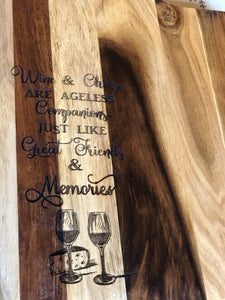 Chopping or Cheese Board - Wine & Cheese are like ... - Silver Belle Design