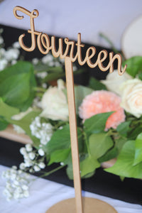 Event Table Numbers - Timber - Silver Belle Design