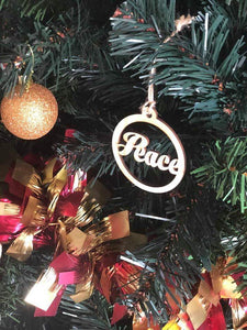 Peace Christmas Bauble