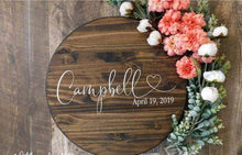 Family Name Sign - Silver Belle Design