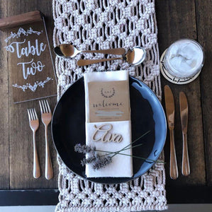 Timber Place Names or Place Settings - Silver Belle Design