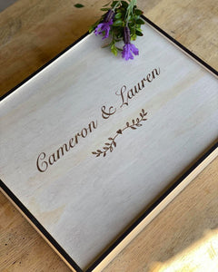 Wedding Keepsake Box Large - Silver Belle Design