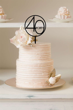 Cake Topper - Modern Thirty Forty Fifty Sixty
