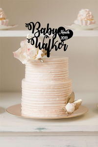 Cake Topper - Expecting Baby In ... - Silver Belle Design