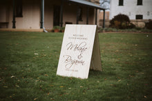 Wooden A-Frame Rustic Sign - Melanie Custom