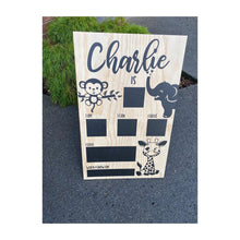 Birthday Board Baby Jungle Animals + Elephant / 500Mm X 800Mm Sign
