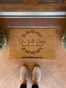 Custom Designed Front Door Mat - Silver Belle Design