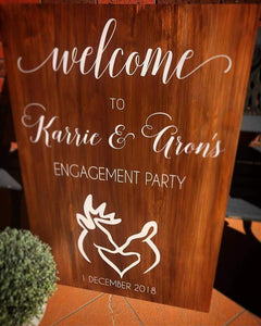 Engagement Welcome Sign - Silver Belle Design