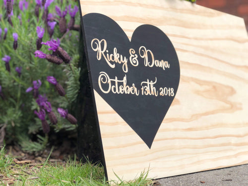Guestbook Signing Board - Silver Belle Design