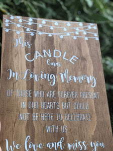 Timber Memorial Sign - A4 Size - Silver Belle Design