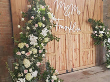 Giant Wedding Signage - 'Mr & Mrs' Sign - Silver Belle Design