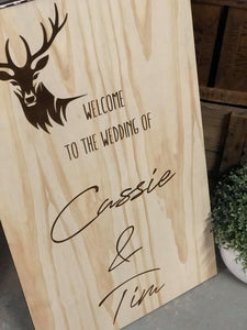 Wooden Welcome Sign - Cassie Custom
