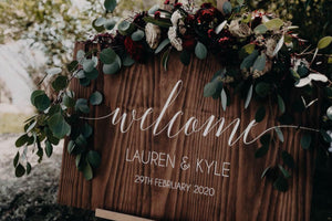 Wooden Welcome Sign - Lauren Custom
