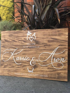 Wooden Welcome Sign - Karrie Custom