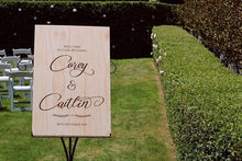 Wooden Welcome Sign - Caitlyn - Silver Belle Design