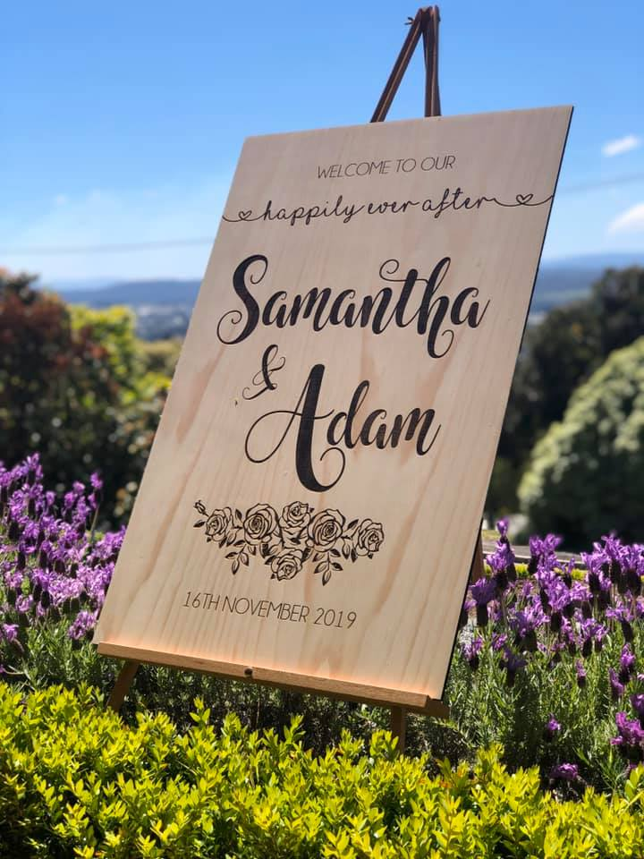 Wooden Welcome Sign - Samantha Custom