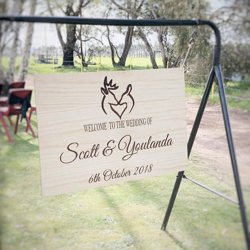 Wooden Welcome Sign - Youlanda Custom