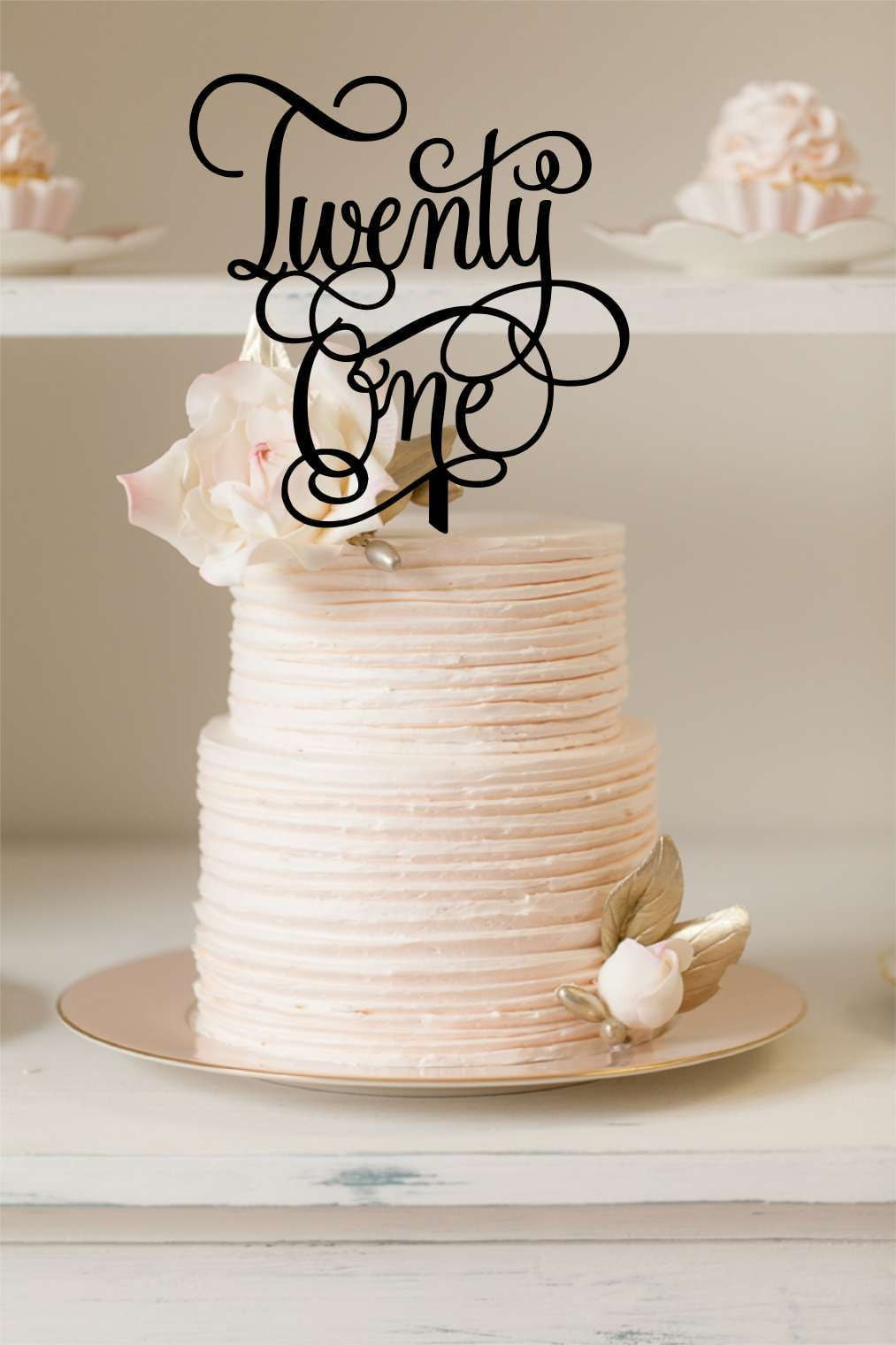 Cake Topper - Twenty One Cursive
