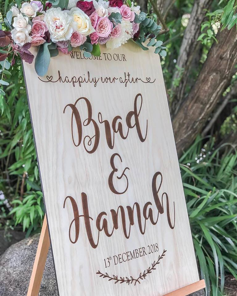 Wooden Welcome Sign - Hannah Custom