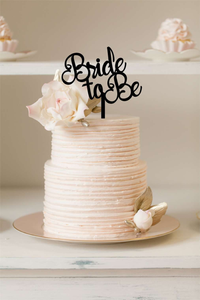 Cake Topper - Bride to Be - Silver Belle Design