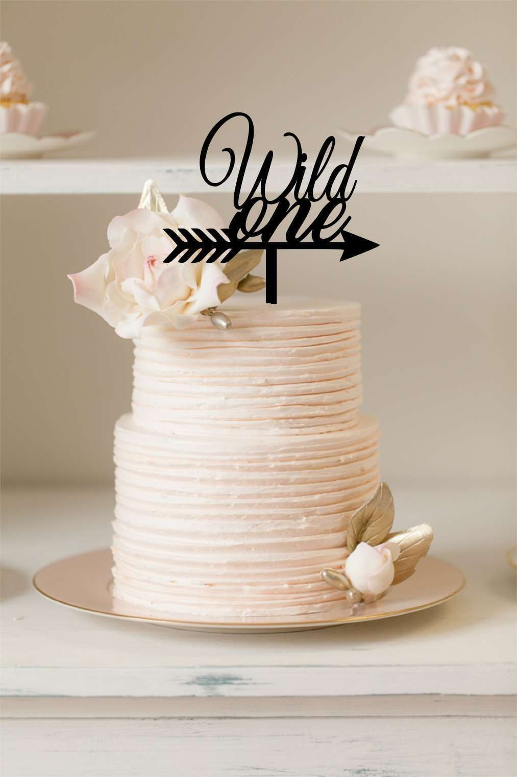 Cake Topper - Wild One - Silver Belle Design