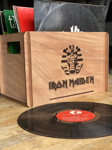 Vinyl Record Timber Box - Silver Belle Design
