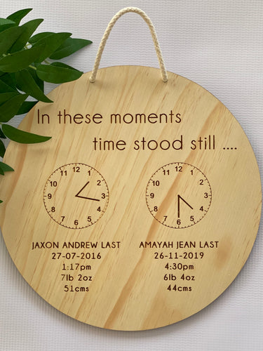 Wall Plaque When Time Stood Still - Silver Belle Design