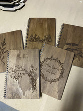 Timber Engraved Notebook - Silver Belle Design