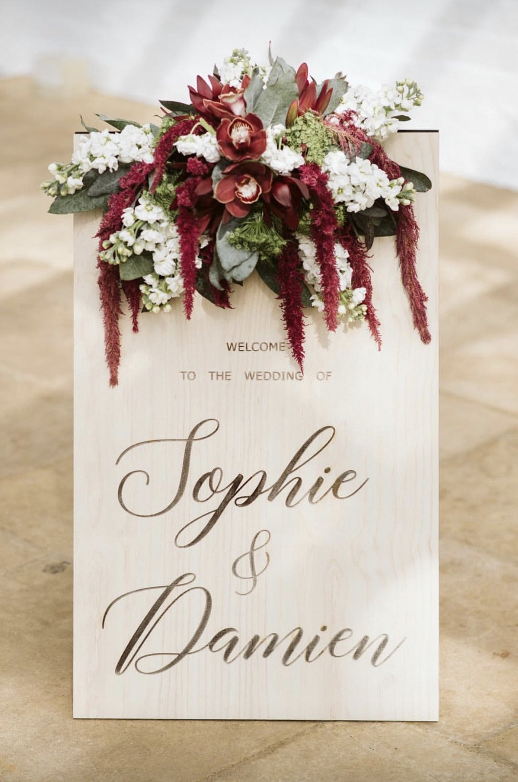 Wooden A-Frame Rustic Sign - Sophie Custom