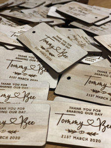Gift/Favour Tags - Silver Belle Design