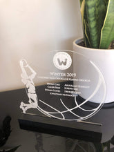 Custom Designed Sports Trophy - Silver Belle Design