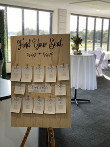 Table Seating Plan With Paper Options Custom Sign
