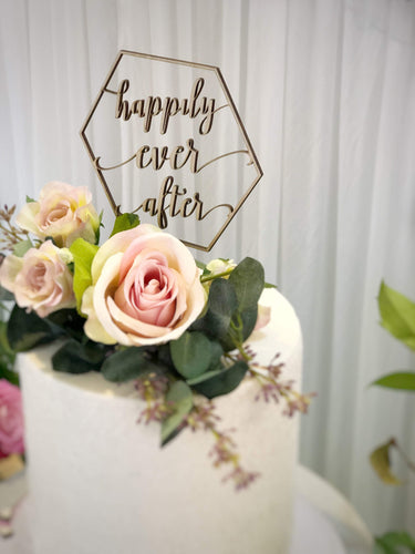 Cake Topper - Happily Ever After - Silver Belle Design