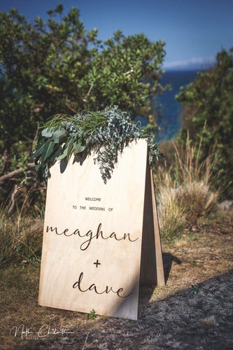 Wooden A-Frame Rustic Sign - Megan Custom