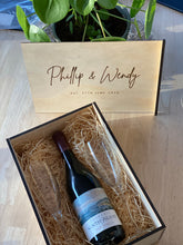 Personalised Wine Gift Box - Silver Belle Design