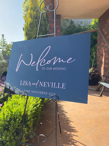 CUSTOM Acrylic Welcome Sign - Design Your Own Sign - Silver Belle Design