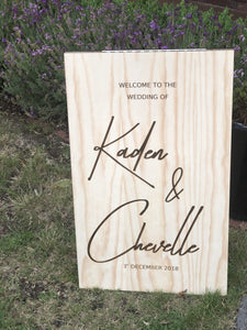 Wooden A-Frame Rustic Sign - Kate Custom