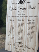 Wooden Table Seating Plan Sign - Nicole Custom