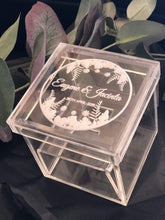 Ring Box Acrylic Square - Silver Belle Design