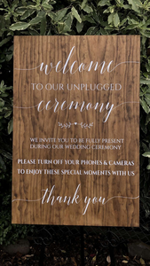 Unplugged Sign - Custom Design Available - Silver Belle Design