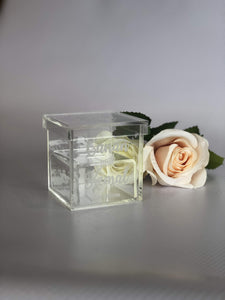 Personalised Acrylic Ring Box - Silver Belle Design